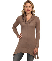 Mod-o-doc - Textured Sweater Knit Cowl Neck Tunic