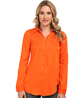 Mod-o-doc - Rayon Twill Button Front Shirt w/ Pintucks