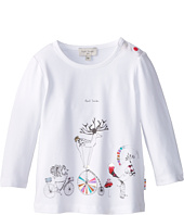 Paul Smith Junior - Long-Sleeved T-Shirt With Print Of Bicycling Animals (Infant)