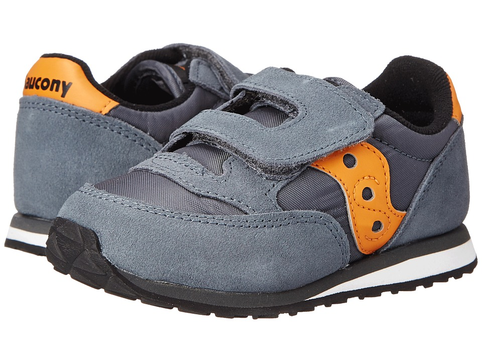 Saucony Kids Baby Jazz HL Toddler/Little Kid Grey/Orange Boys Shoes