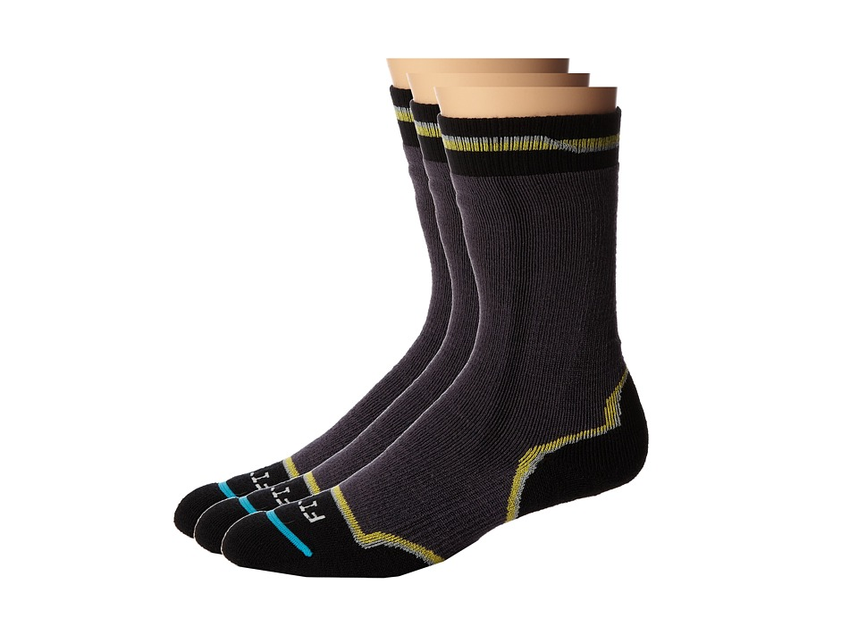 Fits Medium Hiker Crew 3 Pack Nine Iron Crew Cut Socks Shoes