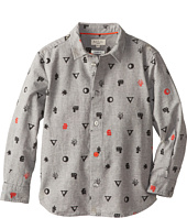 Paul Smith Junior - Grey Shirt With Symbols Printed On It (Toddler/Little Kids)