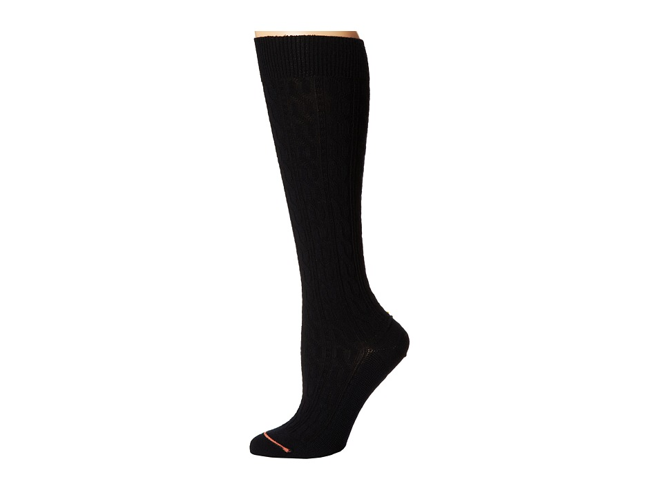 Fits Center City Knee High Cable Black Womens Knee High Socks Shoes