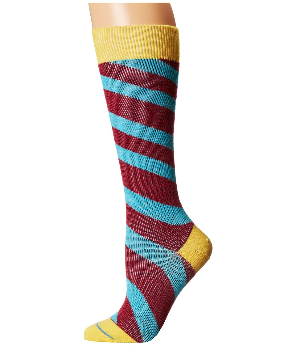 Fits Center City Knee High Incline Stripe Freesia Womens Knee High Socks Shoes