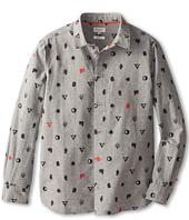 Paul Smith Junior - Grey Shirt With Symbols Printed On It (Big Kids)