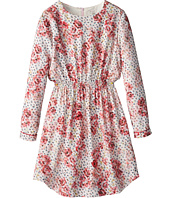 Paul Smith Junior - Flower Printed Dress With Elastic Wasteband (Big Kids)