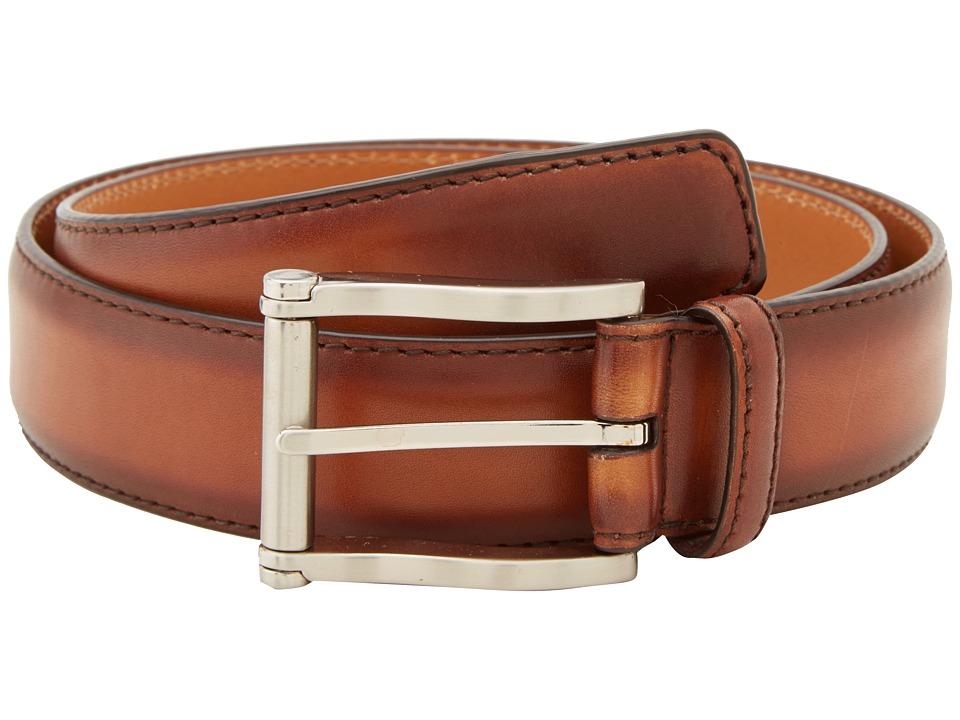 Magnanni - Carbon Cognac Belt (Cognac) Mens Belts