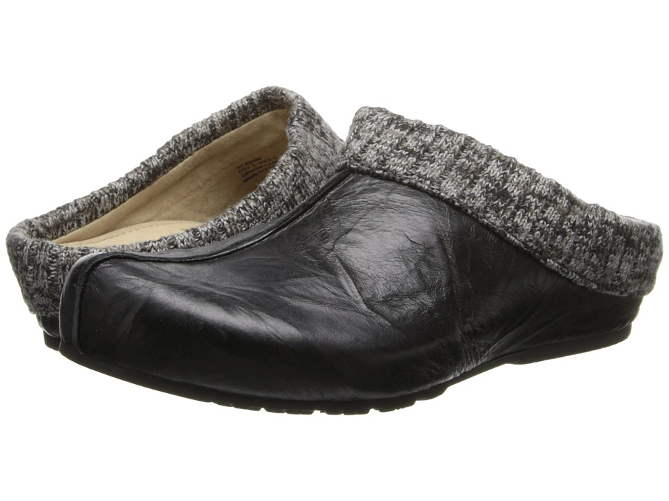Aetrex Krista Clog Sweater Rim (Black) Women