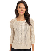 Yumi - Metallic Cable Knit Jumper