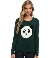 Yumi - Knitted Jumper With Panda Face Intarsia
