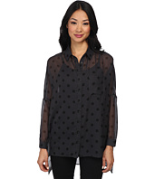 Yumi - Spot Print Oversized Shirt