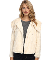Yumi - Faux Fur Jacket With Single Button Fastening