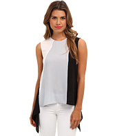 BCBGMAXAZRIA - Ely Sleeveless Blocked High-Low Hem Top
