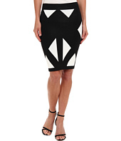 BCBGMAXAZRIA - Natalee Geometric Jacquard Skirt
