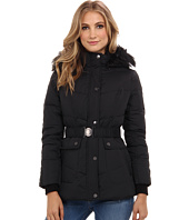 DKNY - Belted Faux Fur Hooded Coat 31922-Y4