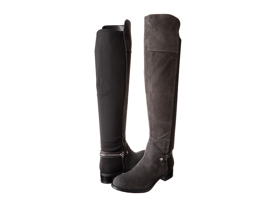 Ivanka Trump Odiner (Grey Suede/Stretch) Women's Zip Boots