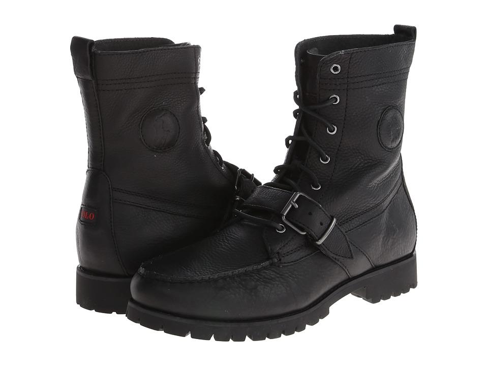 Ralph Lauren Ranger (Black Pull Up Grain Leather) Men's L...