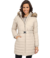 DKNY - 3/4 Faux Fur Trim Coat 31914-Y4