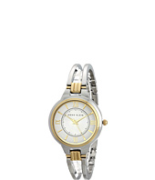 Anne Klein - AK-1441SVTT Round Two-Tone Open Bangle Watch