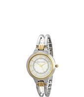 Anne Klein - AK-1441SVTT Round Two-Tone Open Bangle Watch