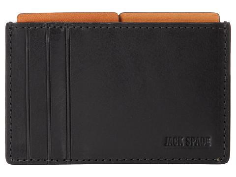 Jack Spade Mitchell Leather File Wallet - Black/Saddle
