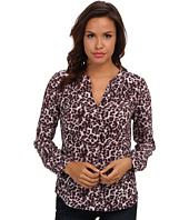 Rebecca Taylor - Long Sleeve Lynx Print Top