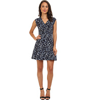 Rebecca Taylor - Short Sleeve Lynx V-Neck Flare Dress