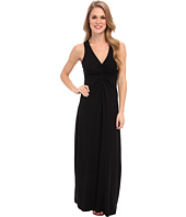 Mod-o-doc - Cotton Modal Spandex Jersey Shirred Front V-Neck Maxi Dress