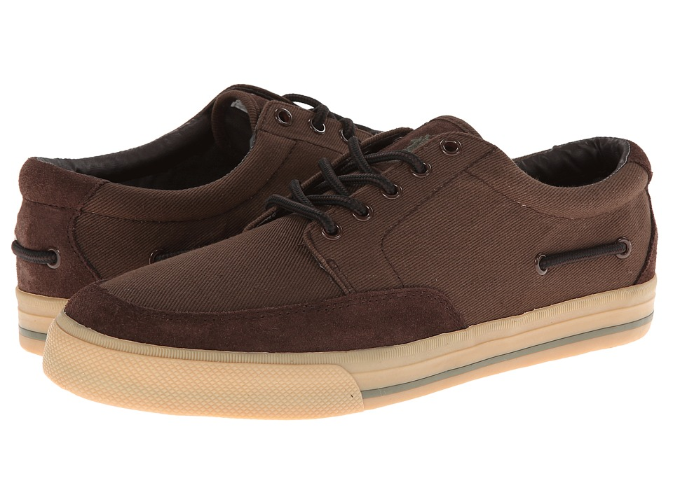 Polo Ralph Lauren - Vance Side Lace (Mohican Twill/Brown Sport Suede) Mens Lace up casual Shoes