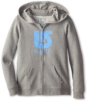 Burton Kids - Logo Vertical Full Zip Hoodie (Little Kids/Big Kids)