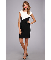 Adrianna Papell - Ruffle Front Drape Sheath Dress