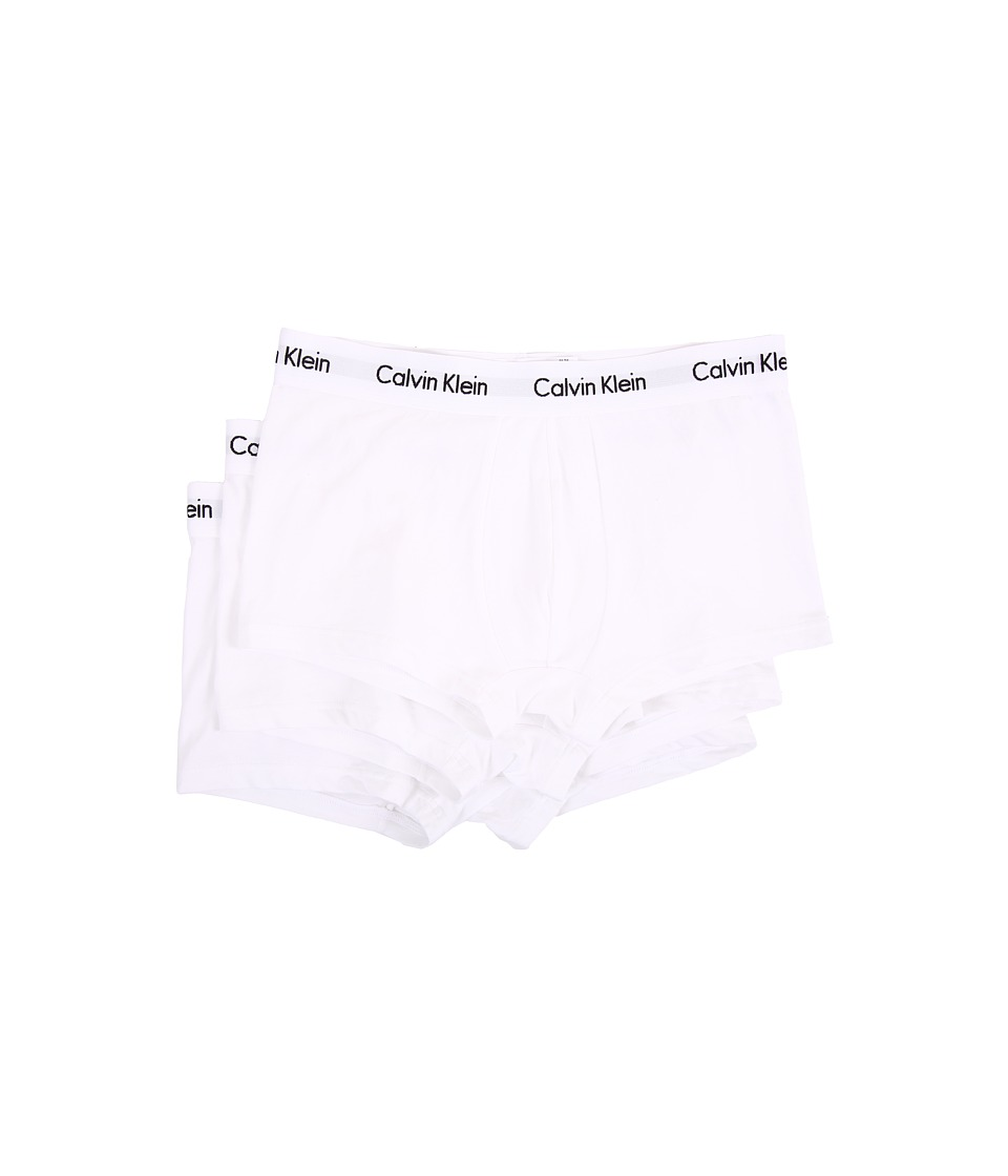 Calvin Klein Underwear Cotton Stretch Low Rise Trunk 3 Pack NU2664 White Mens Underwear