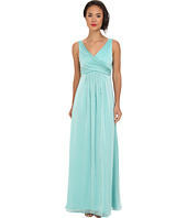 Adrianna Papell - V-Neck Chiffon Gown