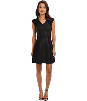 Rebecca Taylor - Sleeveless V-Neck Twill Combo Dress