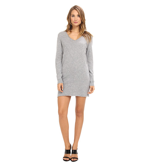 Shop LAmade online and buy LAmade Cashmere Sweater Dress Heather Online - LAmade - Cashmere Sweater Dress (Heather) - Apparel: You rock a sporty yet sophisticated look in this LAmade Cashmere Sweater Dress! ; Luxurious cashmere fabrication lends a relaxed fit over body. ; V-neckline. ; Long-sleeve construction with ribbed detail at banded cuffs. ; Pullover design. ; Raised seams throughout create a playful and stylish pattern. ; Raw-edged straight hemline hits just above the knee. ; 100% cashmere. ; Hand wash cold, lay flat to dry. ; Made in the U.S.A. Measurements: ; Length: 35 in ; Product measurements were taken using size SM. Please note that measurements may vary by size.