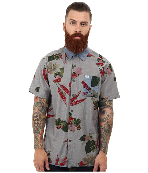 Marc ecko cut sew peppered print chambray shirt for Marc ecko dress shirts