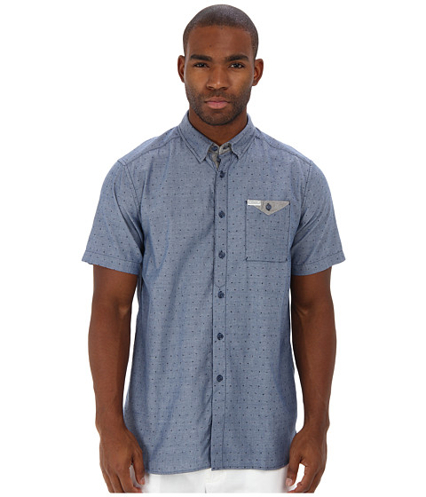 Marc ecko cut sew weekend chili ditzy chambray s s shirt for Marc ecko dress shirts
