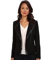 NYDJ - Ponte & Faux Leather Moto Jacket