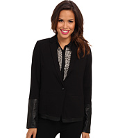 NYDJ - Ponte & Faux Leather Blazer