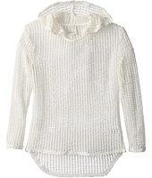 Ella Moss Girl - Textured Loose Knit Hooded Pullover (Big Kids)