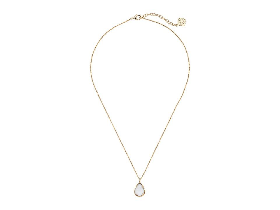 Kendra Scott Kiri Necklace Gold Slate Cats Eye Necklace
