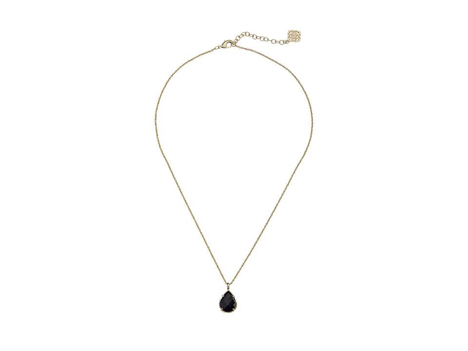 Kendra Scott Kiri Necklace Gold Black Necklace