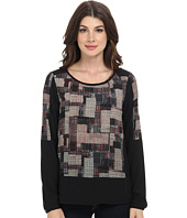 NYDJ - Patchwork Houndstooth Top