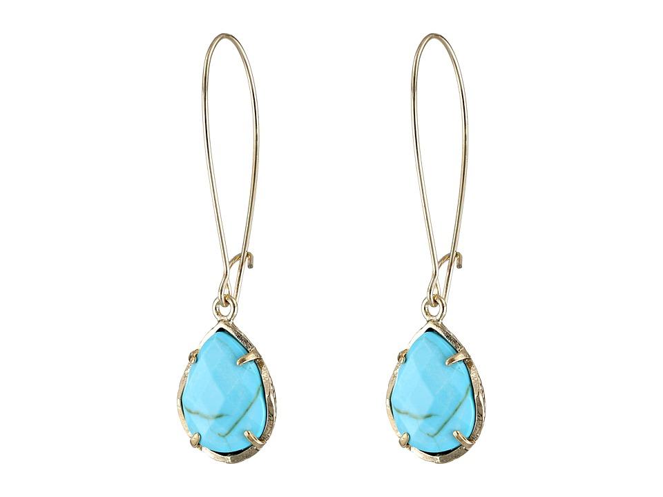 Kendra Scott Dee Earring Gold Turquoise Earring
