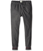 Fendi Kids - Grey Flannel Banded Bottom Pant (Big Kids)