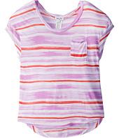 Splendid Littles - Painterly Slub Stripe S/S Pocket Tee (Big Kids)