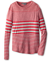 Vince Kids - L/S Shirt Tail Tee (Big Kids)