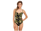 KAMALIKULTURE - Shirred Mio Swimsuit (Olive Camo)