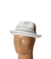 Stacy Adams - Polybraid Pinch Front Fedora with Contrast Tie Band