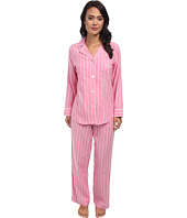 LAUREN Ralph Lauren - Brushed Twill LS Notch Collar PJ